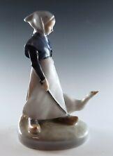 Royal Copenhagen Girl with Goose Figurine #528 Excellent Condition No Damage