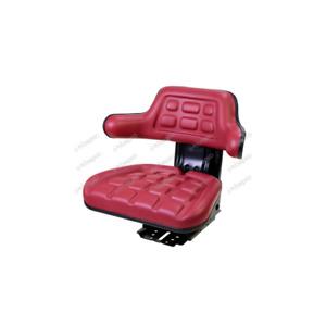 Bepco Siège Tracteur multi-position et à suspension mécanique Rouge