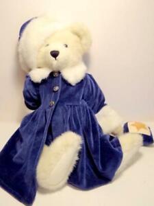 """Boyds Bears ALEXIS BERRIMAN #912022 1998 17"""" Plush Blue Velvet & Fur Winter NWT"""