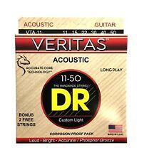 DR Strings Guitar Strings Veritas Acoustic 11-50 Extra Light Phosphor Bronze