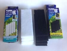 Fluval 3 Plus Carbon Pad 4 Pack PLUS Fluval Polyester Pad 4 Pack!!!