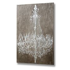 TEXTURED CEMENT EFFECT CHANDELIER WALL ART - WILL HELP FILL UP YOUR WALL SPACE
