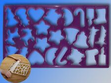 Emporte-pièce pour 25 Cookies, Cadre de tournage 37x22cm Biscuits de noël