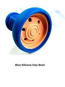 Hookah Bowl Rubber Silicone Phunnel Bowl Extra Large Clay Bowl Shisha BLUE Bowl