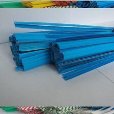 """100pcs Plastic/Paper coated BLUE 4"""" x 1/4"""" Twist Ties - won't rip or pull off"""
