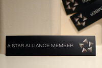 """#4101 Star Alliance Member VIP Travel Airport Luggage Label 1x7"""" Decal STICKER"""