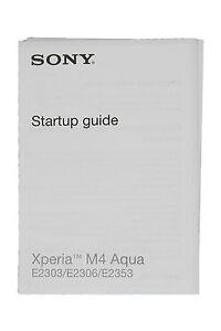 Original Sony Xperia m4 Aqua e2030, e2306, e2353 Quick Start Manual