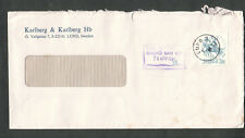 Sweden 1981 window envelope cover Karlberg Hb Lund to USA/Taxe percue Malmo Ban