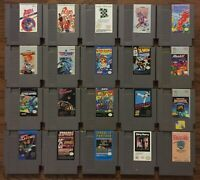 NES Cartridge Lot 20 Games Cleaned Nintendo Entertainment System X-Men Top Gun