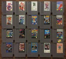 NES Cartridge Lot 20 Games Cleaned Nintendo Entertainment System X-Men Top Gun