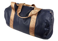 Sporttasche Reisetasche Handgepäck blau kupfer Reißverschluss Kunstleder