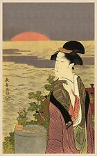 Japanese Art Print: First Sunrise (Hatsuhinode): Fine Art Reproduction
