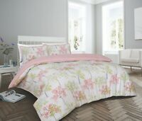 200 Thread Count Cotton Rich Superking Duvet Cover Set Blush Pink Trees Design