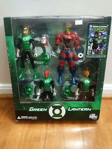 DC Direct Green Lantern Corps Through The Ages 4 Figure Set 64 page Comic Book