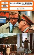 FICHE CINEMA : MES FUNERAILLES A BERLIN - Caine,Hamilton 1966 Funeral In Berlin