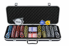 New Orleans Poker Chips Set - 11.5g 500 Piece Numbered Poker Set & Accessories