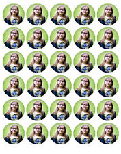 OWN PERSONALISED PHOTO edible wafer paper cake toppers x 30