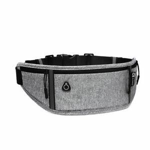 Unisex Waterproof Waist Bum Bag Travel Reflective Stripe Running Belt Sport