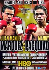 JUAN MANUEL MARQUEZ vs MANNY PACQUIAO 8X10 PHOTO BOXING POSTER PICTURE