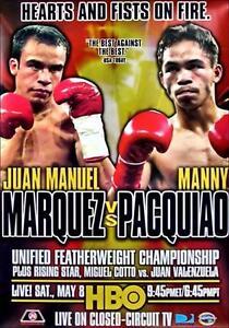 JUAN MANUEL MARQUEZ vs MANNY PACQUIAO 8X10 PHOTO BOXING POSTER PICTURE