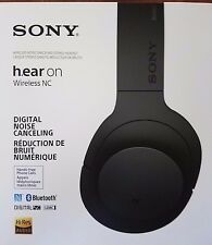 Sony MDR100 h.Ear on Wireless Noise Canceling Bluetooth Headphones - Charcoal