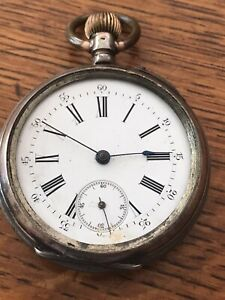 1800's French? Repeater Pocket Watch .800 Silver Case