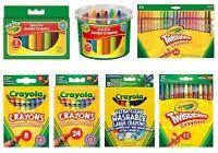 Crayola Crayons - Easy-Grip, Twistables, Large, Jumbo or Washable - 8, 12 or 24