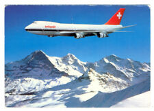 SWISSAIR  Airlines Boeing B-747-257-B  Postcard