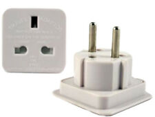 1 x UK To EU 2 PIN Travel AC Adapter Plug Converter NEW EU