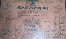 GERMAN - Iron Cross 2, Large Award Cert. Garde-Jager