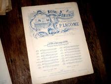 chanson auvergnate de l'opéra-comique Madame Boniface piano chant 1883 P. Lacome