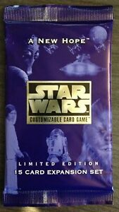 Star Wars CCG A New Hope Limited Sealed Booster Pack Decipher