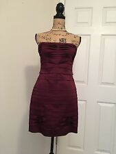 bcbg max azria wine dress size M