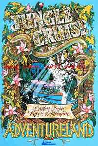 """Vintage Disney 1976 ( Jungle Cruise )11"""" x 17"""" Collector's Poster Print - B2G1F"""