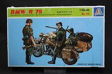 XX037 ITALERI 1/35 maquette moto 315 BMW R 75 + 3 soldats side car