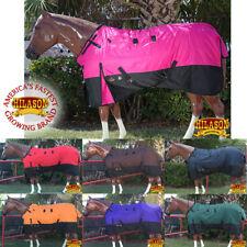 66-84 Hilason 1200D Ripstop Waterproof Turnout Winter Surcingle Horse Blanket U-
