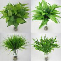 dekor zu hause amt grünes gras künstliche pflanze laub bush fake - blatt