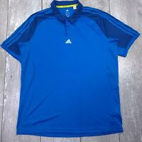 Adidas 365 Climacool Polo Shirt Mens Large Blue Performance Short Sleeve P116
