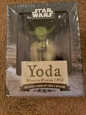 Star Wars Yoda Bring You Wisdom I Will Figure, Book, Display Stand, Stickers Nwb