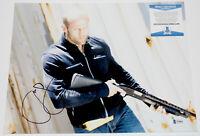 ACTOR JASON STATHAM SIGNED 'CRANK' 11X14 PHOTO THE TRANSPORTER BECKETT BAS COA