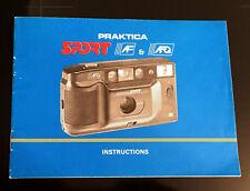 Original Praktica Sport AF & AFQ Camera Instruction Booklet