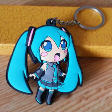 Japan Anime Hatsune Miku Pendant Keychain Silicone Key Ring Bag Car Gift