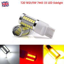 1X/2X 12V T20 W21/5W 580 7443 33 Led Luz Lateral Bombilla HID Efecto Doble Filamento DRL