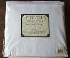 Fiorella 100% Cotton Sateen Queen Sheet Set 600 Thread Count White