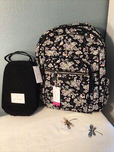 Vera Bradley XL Campus Backpack Holland Garden & Lunch Bunch Black