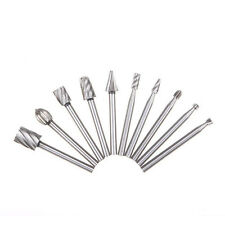 10pcs HSS Routing Router Bits For Dremel Rotary,Engraving,Wood Working Tool