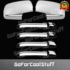 For Honda Pilot 03-08 4Drs Handle With Pskh+Full 2Pc Mirror Chrome Covers