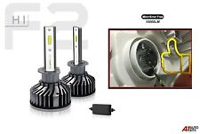 Pair Of 6500k Mini H1 Led Lights Headlight Bulbs Error Free Canbus Ready 12v 24v