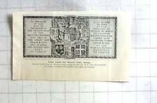 1927 British Empire War Memorial Tablet Bethune, Reginald Hallward