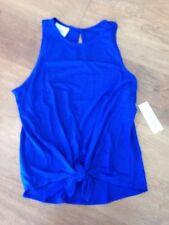 Lucy Love Women's Life Balance Tank Top Tee Shirt, Royal Blue, Ladies Small